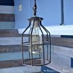 DIY Cage Light Inspired By Restoration Hardware Lighting...Uncaged