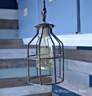 DIY Cage Light Inspired By Restoration Hardware Lighting…Uncaged
