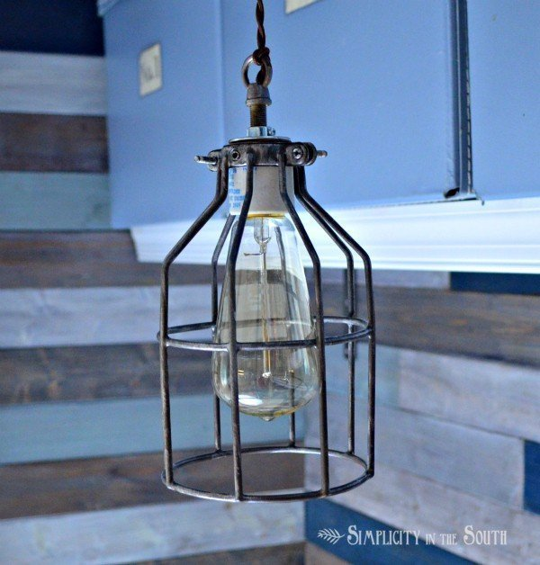 DIY Cage Light Inspired By Restoration Hardware Lighting…Uncaged
