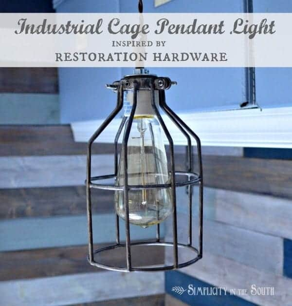DIY Cage Light Inspired By Restoration Hardware Lighting…Uncaged ...