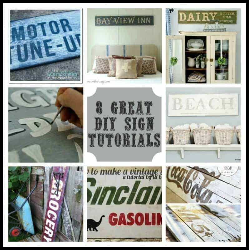 8 great vintage sign tutorials
