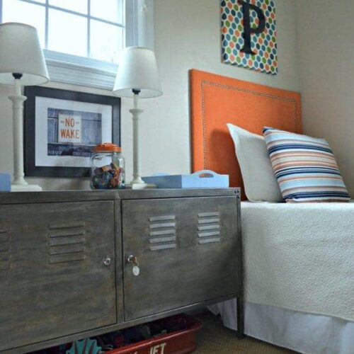 Faux Aged Steel Ikea Cabinet Inspired By Restoration Hardware
