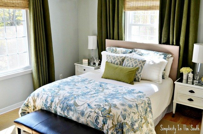blue and green master bedroom online image