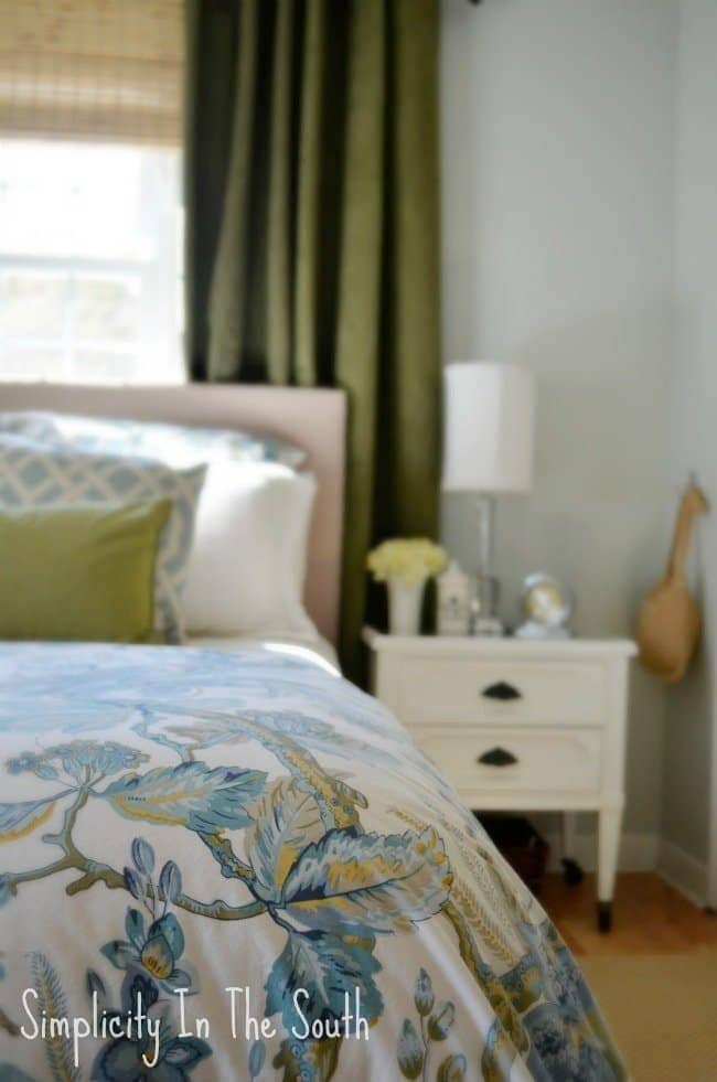 master bedroom with pottery barn bedding