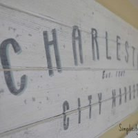 DIY Vintage Charleston Sign Tutorial
