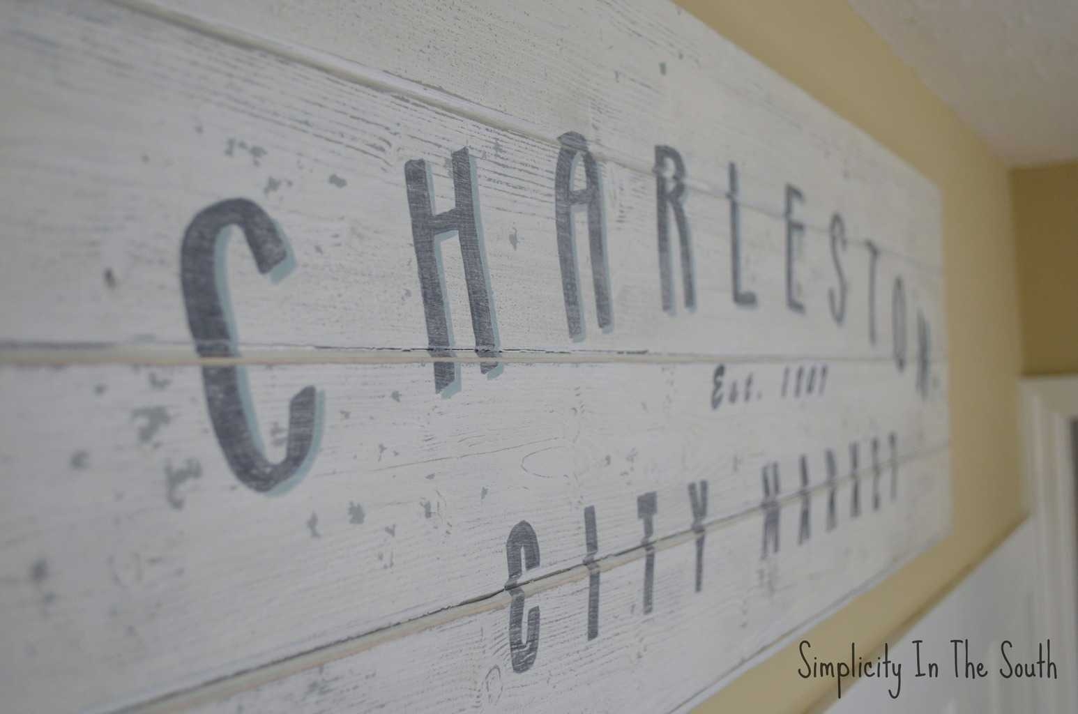 DIY Vintage Charleston Sign Tutorial