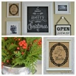 {Almost} Free Christmas Art for Our Gallery Wall