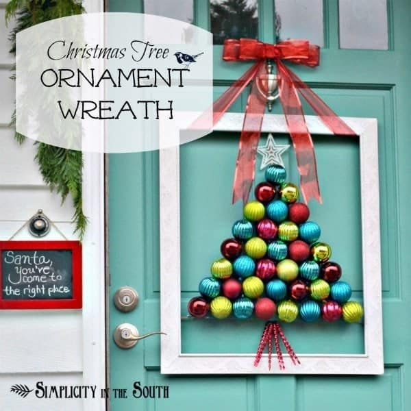 Christmas tree ornament wreath tutorial