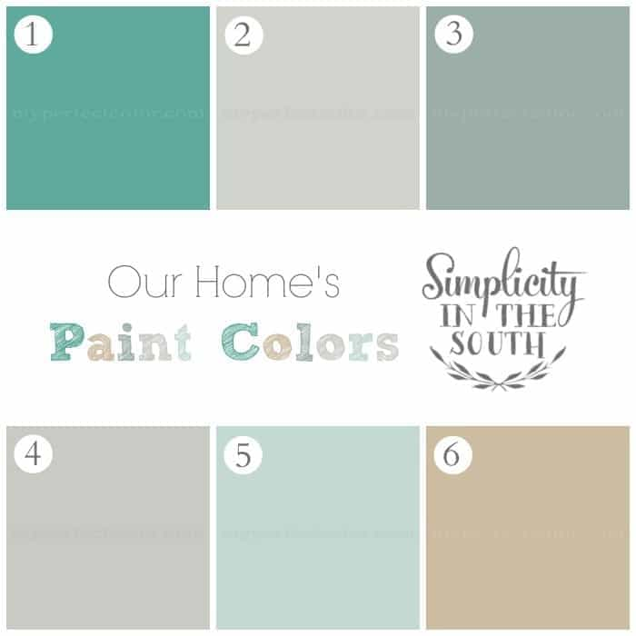 Paint colors- Simplicity in the South Home Tour