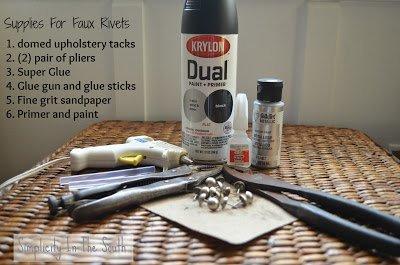 Rivets for the Restoration Hardware Inspired Cabinet {A Tutorial}
