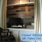 Easy Planked Walls for the Office-In-A-Closet