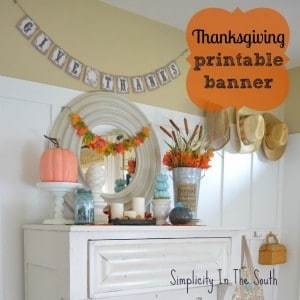 Fall Decorating & Free Printable Banner