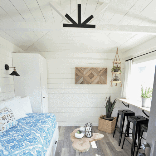 One Room Challenge: The Modern Farmhouse Cottage Guest Shed Reveal