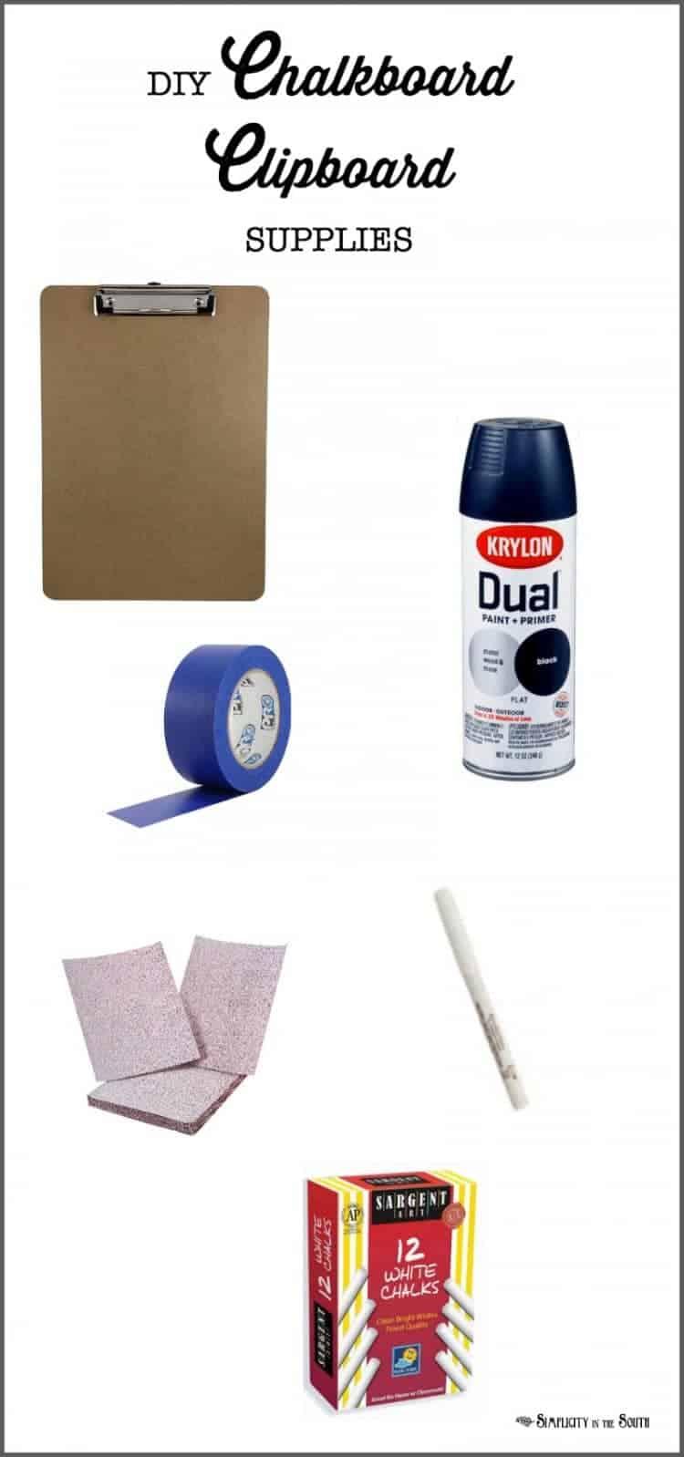 chalkboard clipboard supplies