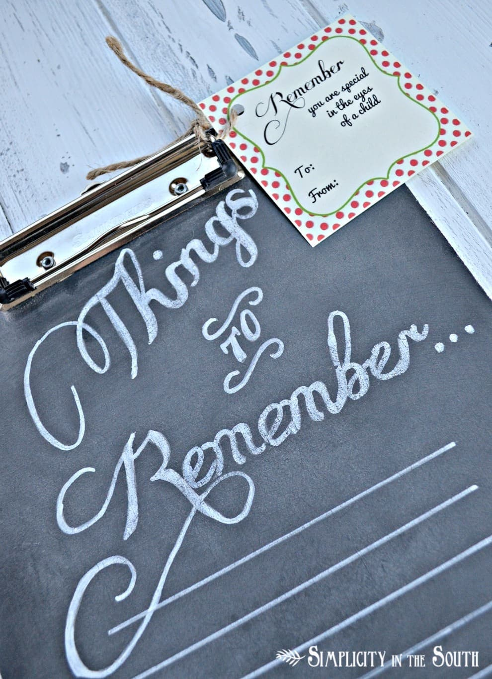 {Things to Remember}: Chalkboard Clipboard Teacher's Appreciation Gift