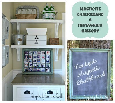 collage+magnetic+chalkboard+instagram+gallery