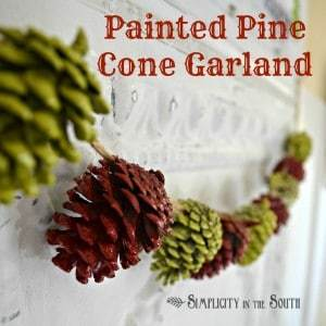 Painted Pine Cone Garland {A Simple Christmas Craft Project}