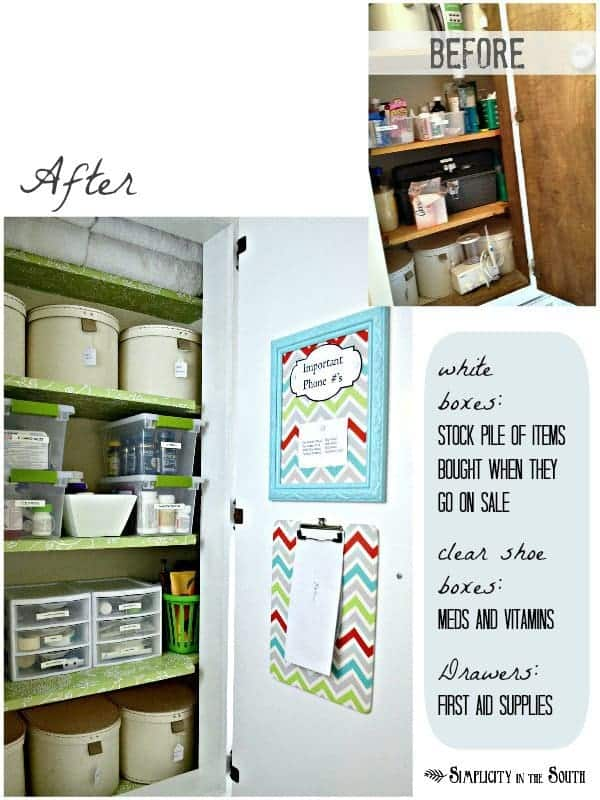 Hall closet organization before and after pictures