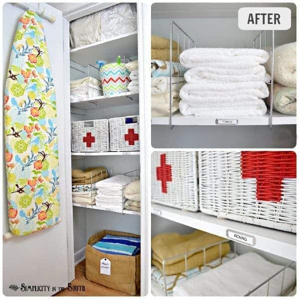 Linen Closet Organization Small Home BIG IDEAS Simplicity In The Custom Bathroom Closet Organization Ideas