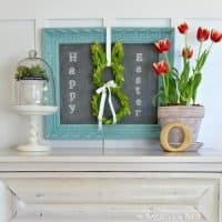 My Easter Decor, a Turquoise Chalkboard Frame & Why I'm So Blue
