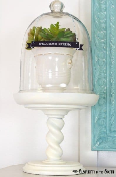 Spring glass cloche