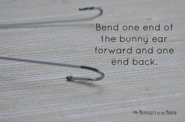 bunny ears made from clothes hangers