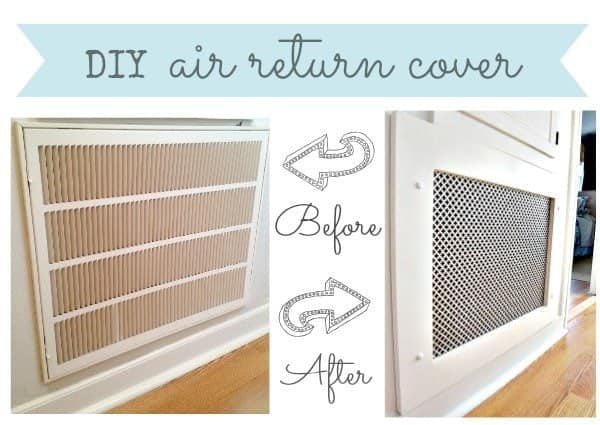 diy air return cover - Decorative Vent Covers