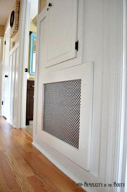 DIY air return vent cover