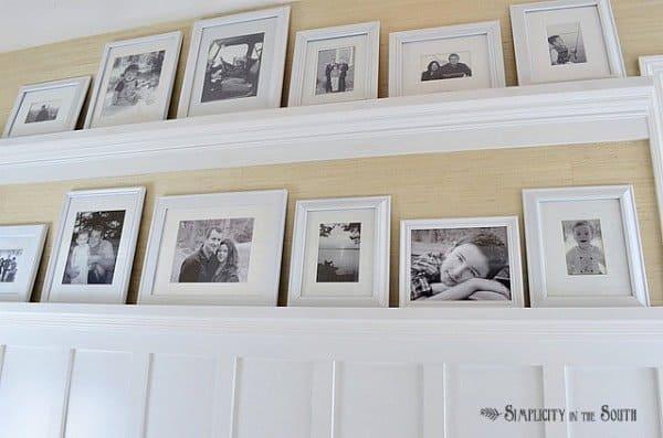 DIY gallery shelves- Hallway reveal.