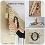 Double-Duty DIY: Hide the Doorbell with Monogrammed Art