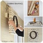 Double-Duty DIY: Hide the Doorbell with Monogrammed Art