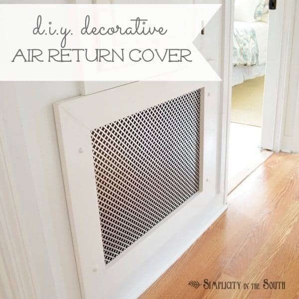 How to Make a Decorative Air Return Vent Cover