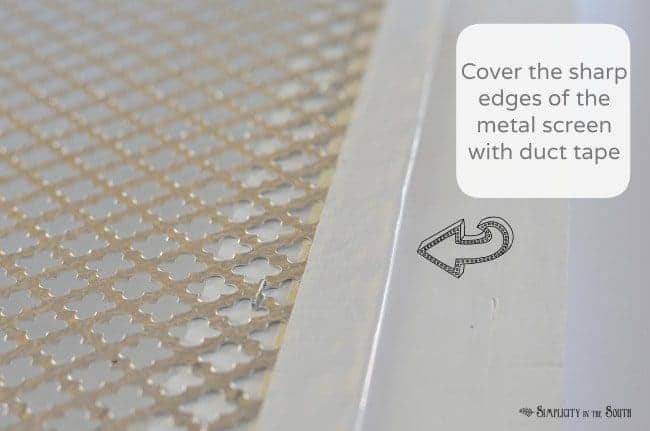 How to make a decorative air return cover 1
