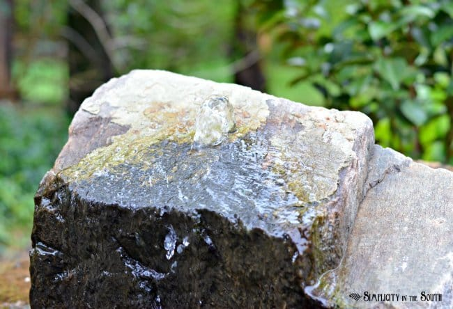 water feature rock