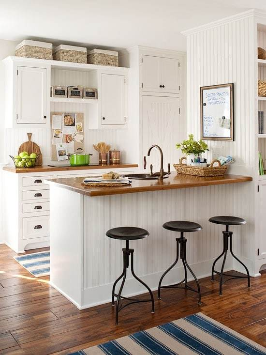 beautiful Timeless Kitchen Design Ideas #8: BHG kitchen with beadboard backsplash and island