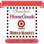 $150 Gift Card Giveaway: Target, Home Goods or World Market