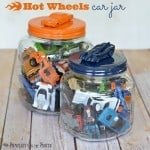 Hot Wheels Car Jar {A Colorful Toy Storage Idea}