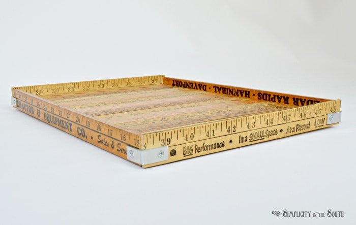 yardstick tray tutorial