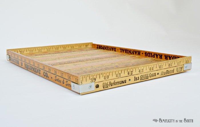 Vintage Yardstick Tray