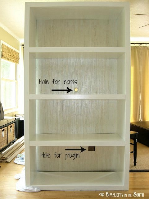 Ikea-Lack-Bookcase-with-grasscloth-wallpaper