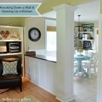 Knocking Down a Load Bearing Wall and Opening Up the Kitchen