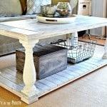 Restoration Hardware Inspired Balustrade Coffee Table
