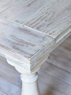 How to Distress Wood Furniture with Milk Paint and Wet Rag Sanding
