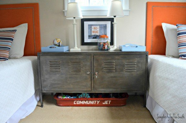 Faux-aged-steel-Ikea-cabinet.-Boys-shared-bedroom-by-Simplicity-In-The-South.