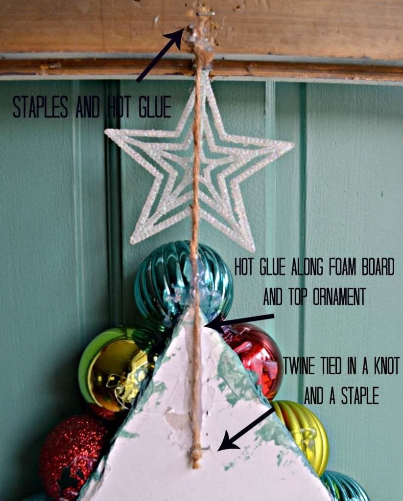{I've been} Framed Christmas Tree Ornament Wreath 5