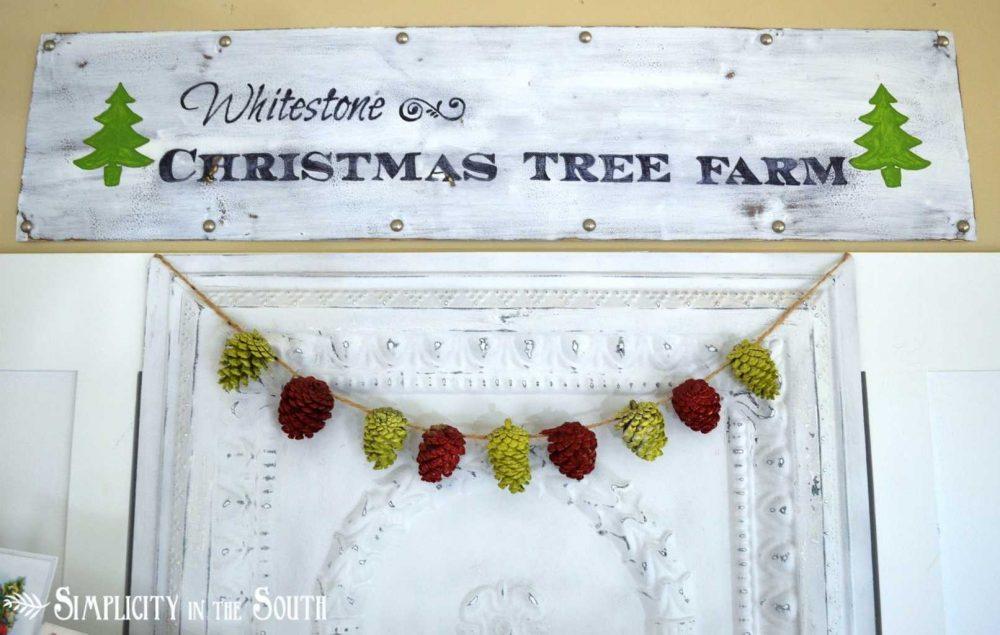 Christmas Vignette With Tree Farm