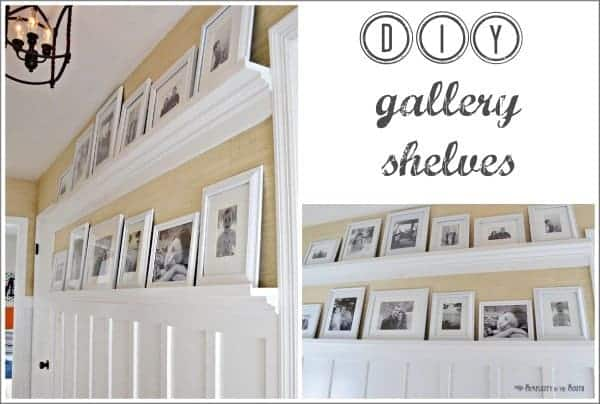 How to make gallery shelves