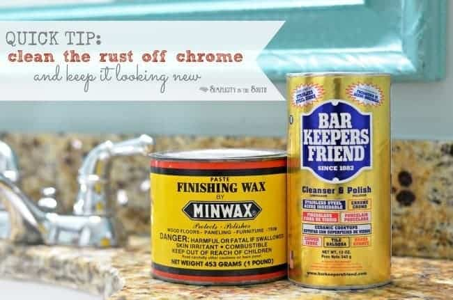 Bathroom Lights Rusting simple cleaning trick: how to remove rust from chrome in the bathroom