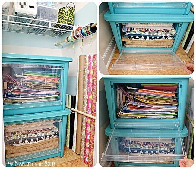Craft closet makeover with Rubbermaid All Access Organizers