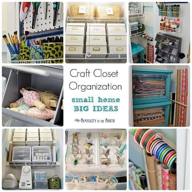 Craft closet organization- small home big ideas.